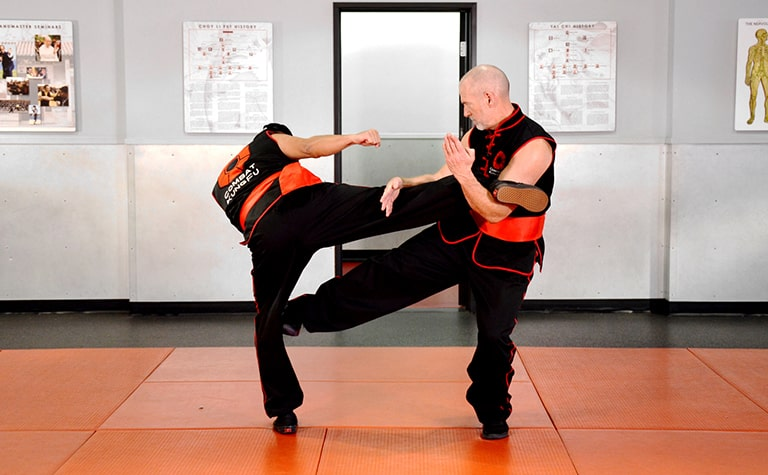Master Nathan Fisher, shows how to disable an attacker in one of Combat Kung-Fu's self-defense training videos.