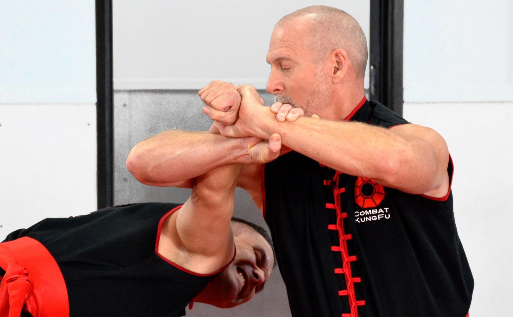 Master Nathan Fisher Demonstrates a Choy Li Fut Elbow Lock
