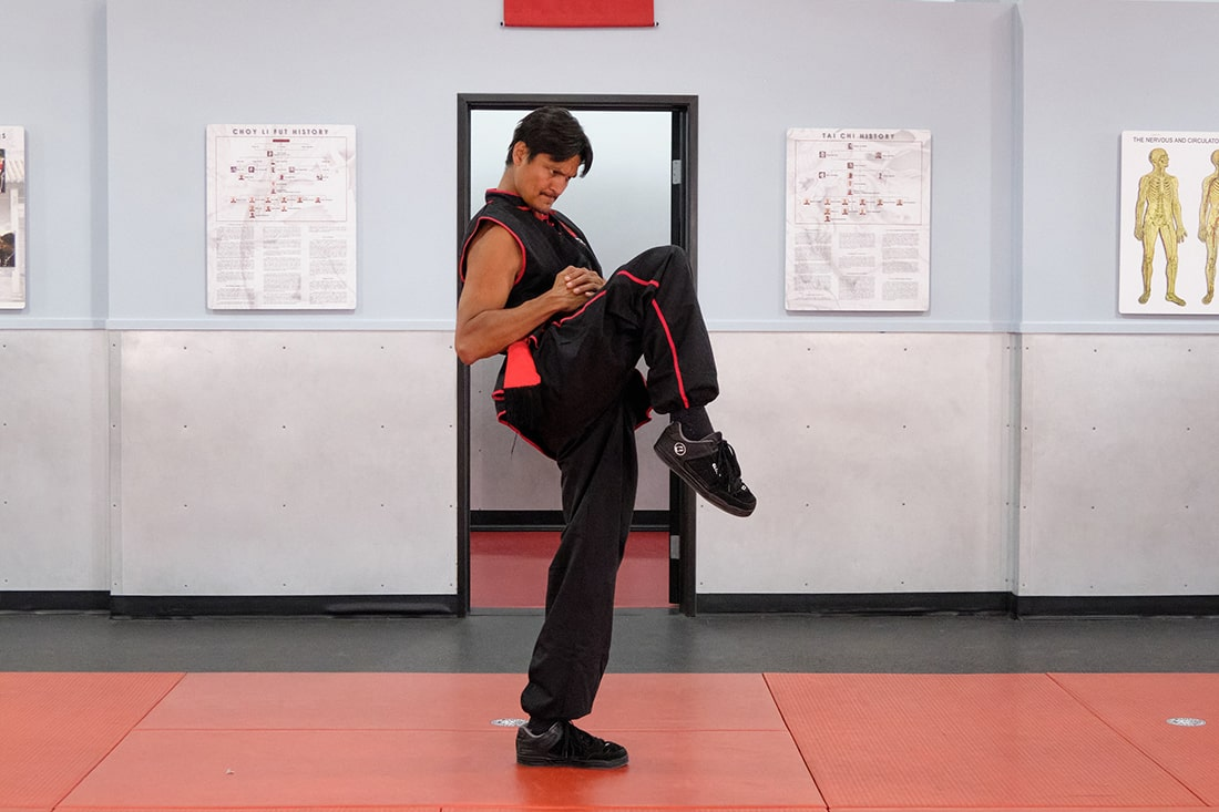Tai Sifu Ben Stanley Demonstrates Choy Li Fut's Knee Strike